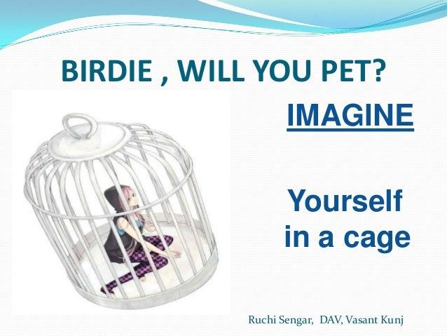 BIRDIE , WILL YOU PET?Ruchi Sengar, DAV, Vasant KunjIMAGINEYourselfin a cage