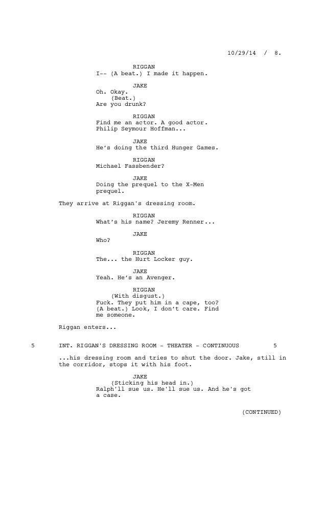 The Hunger Games Script Pdf