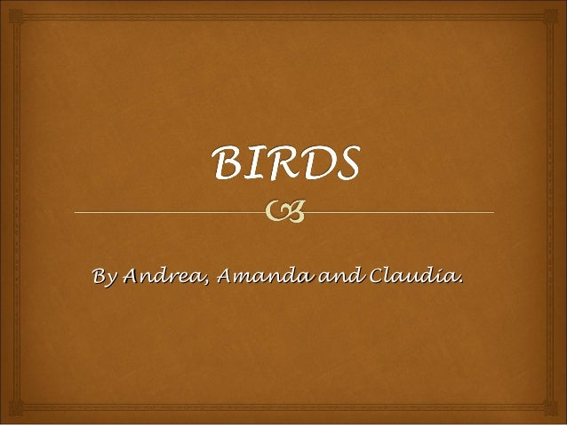 By Andrea, Amanda and Claudia.By Andrea, Amanda and Claudia.
