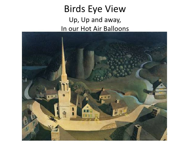Birds Eye View   Up, Up and away,In our Hot Air Balloons