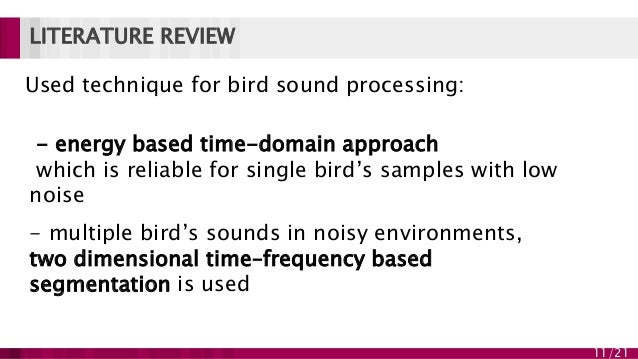 Bird species classification based on their sound