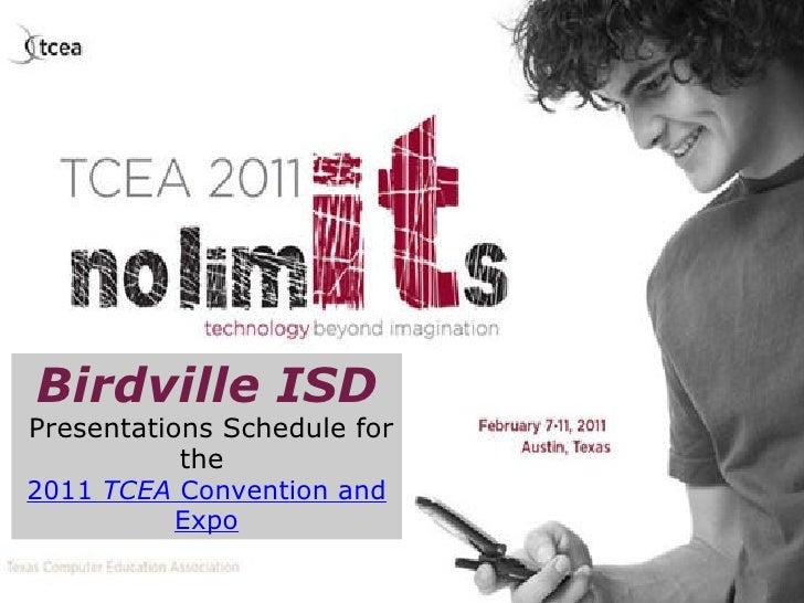 Birdville Tcea 2011 Presentations Schedule