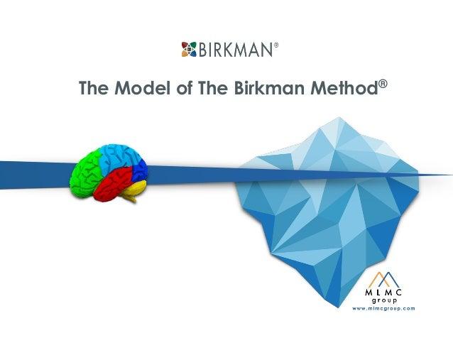 Model of The Birkman Method assessment