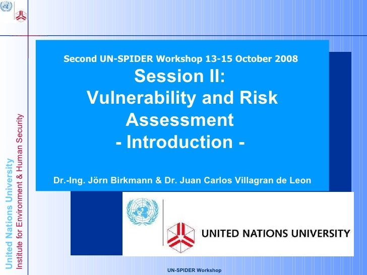 Second UN-SPIDER Workshop 13-15 October 2008                                                                              ...