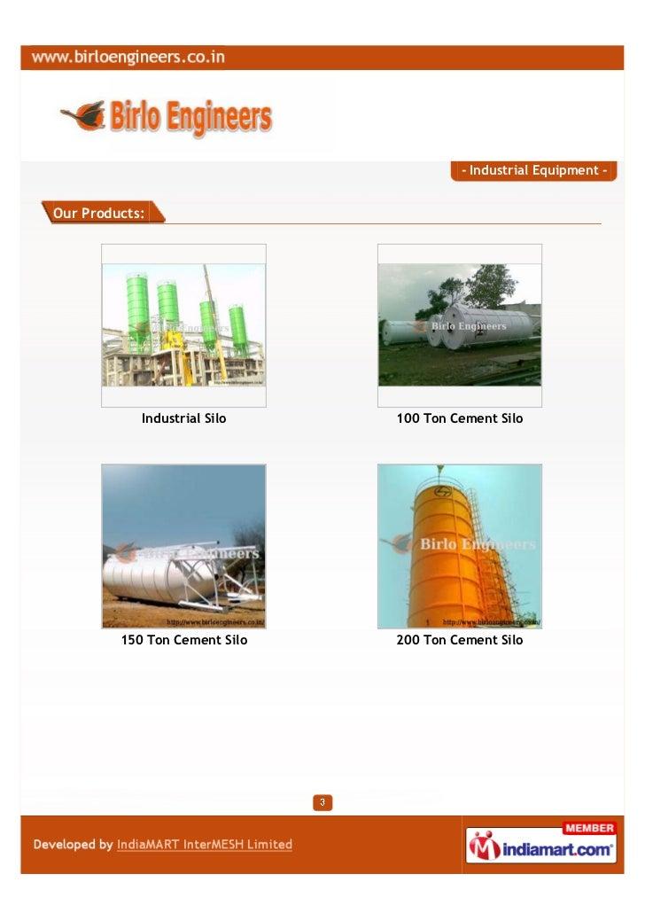 Birlo Engineers, Pune, Industrial Equipment Slide 3