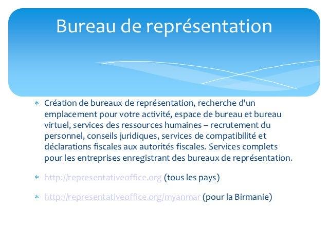 Bureau de représentationCréation de bureaux de représentation, recherche dunemplacement pour votre activité, espace de bur...