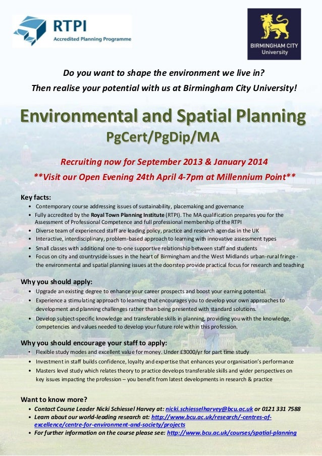Do you want to shape the environment we live in?   Then realise your potential with us at Birmingham City University!Envir...