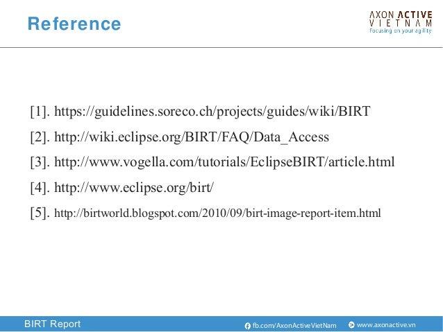 Birt Html Report