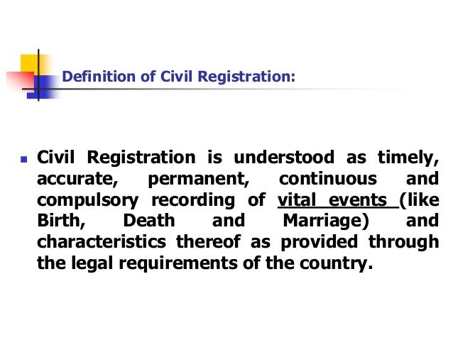 Necessity of Implementation of Registration of Birth and