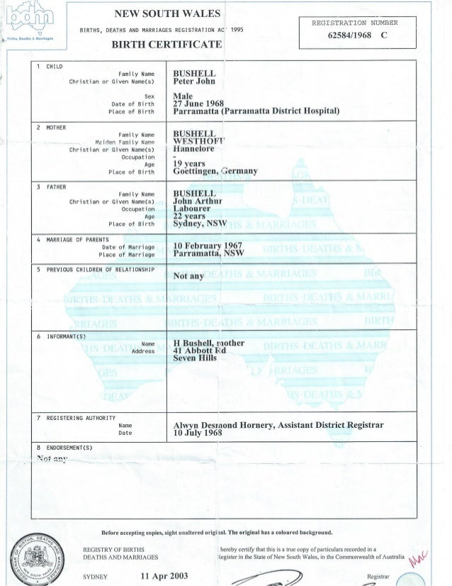 copy of nsw birth certificate