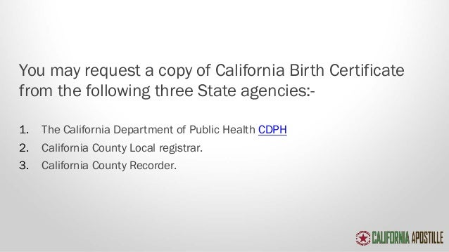 Your guide to get your birth certificate apostilled in california 7 yadclub Choice Image