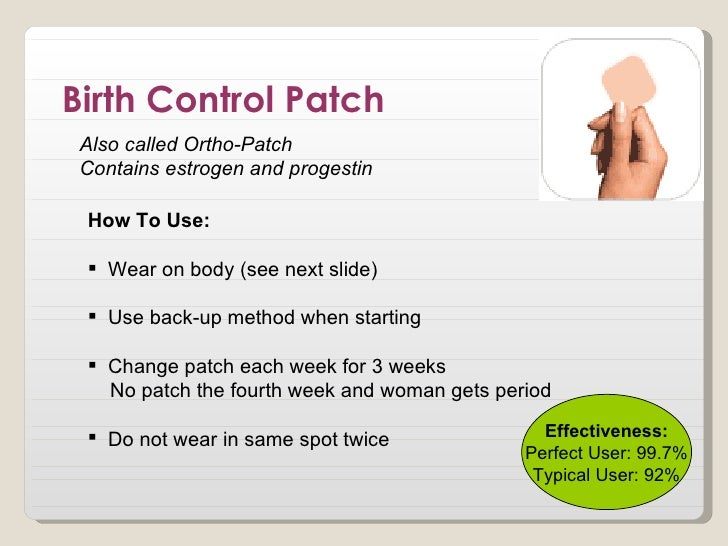 patch birth control effects
