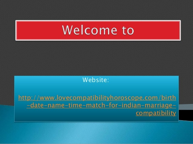 Compatibility by name and birthdate