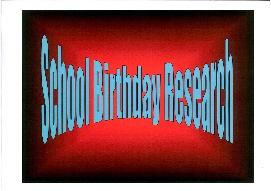 Spreydon School Birthday
