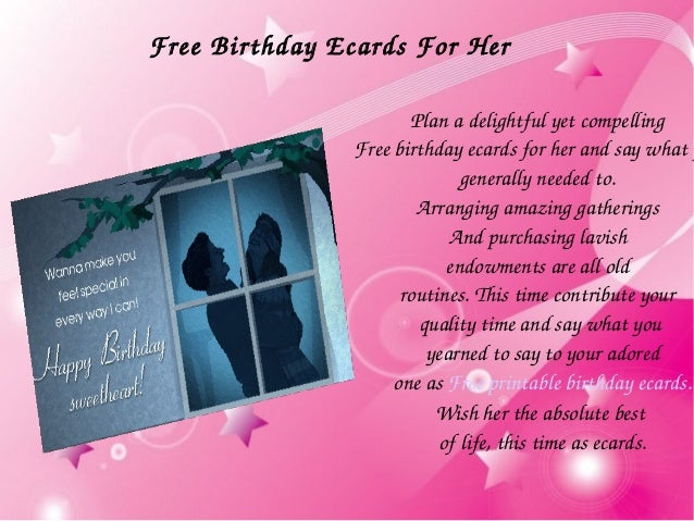 5 Plan A Delightful Yet Compelling Free Birthday Ecards For Her