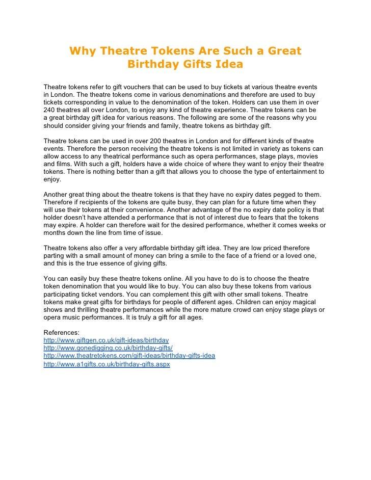 Birthday Gifts Idea
