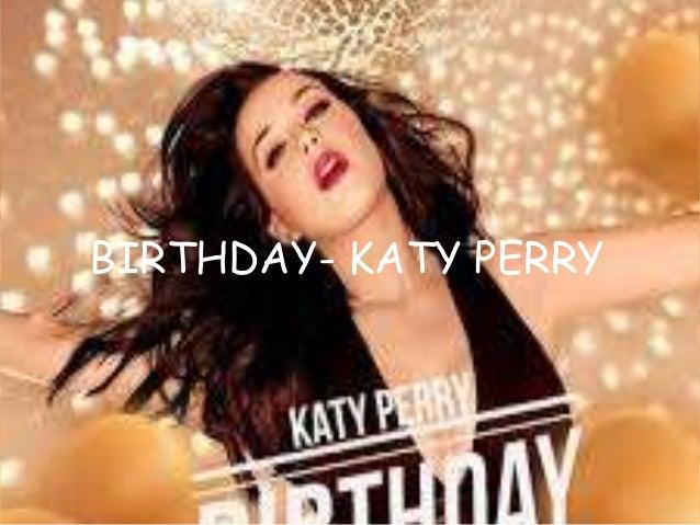 Katy Perry- Birthday Lyrics