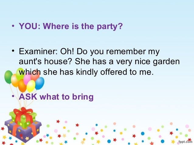 role play: invitation to go to a party, Party invitations