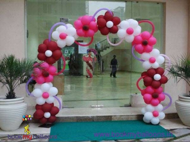 Birthday balloon decoration bangalore for Balloon decoration book