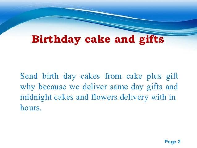 Send Birthday Cake Same Day Delivery