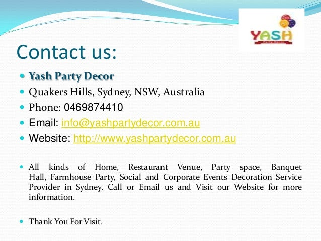 Birthday Party Decoration Hire Sydney For Kids To Elders Dec