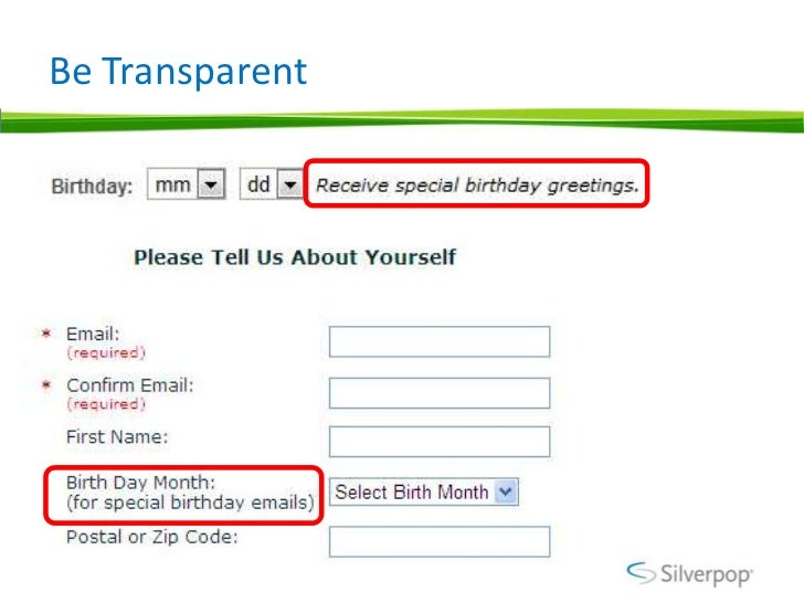 Birthday email programs examples social login can help capture birth date m4hsunfo Images