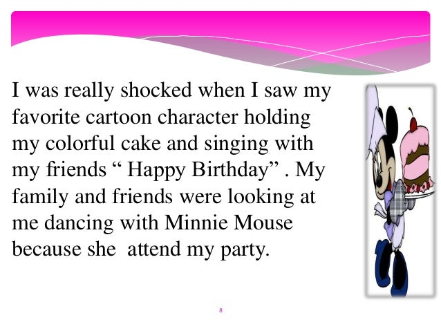 Narrative Story about birthday event