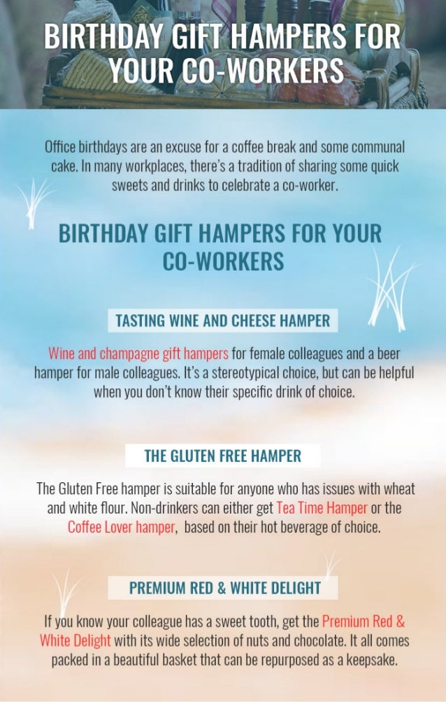 Birthday Gift Hampers For Your Co Workers
