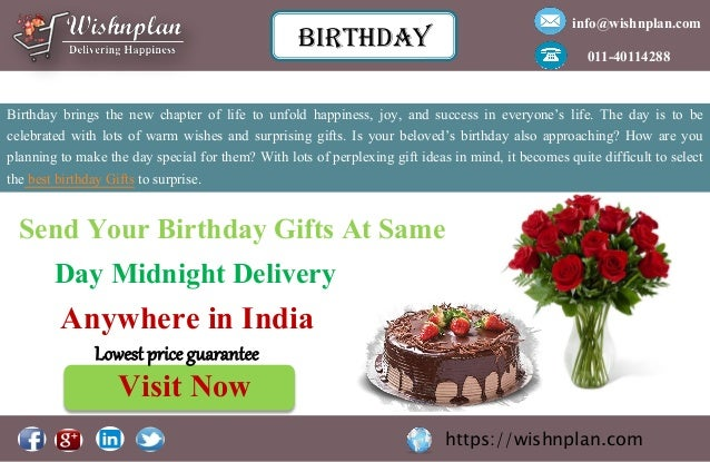 Send Your Birthday Gifts
