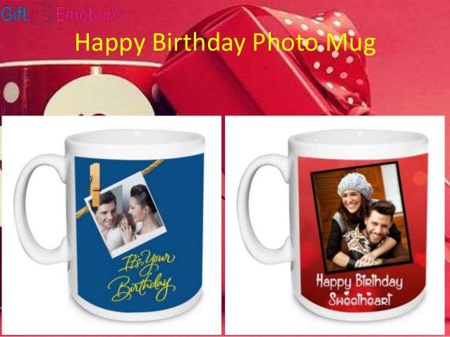 Happy Birthday Photo Mug