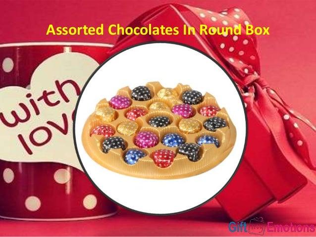Assorted Chocolates In Round Box