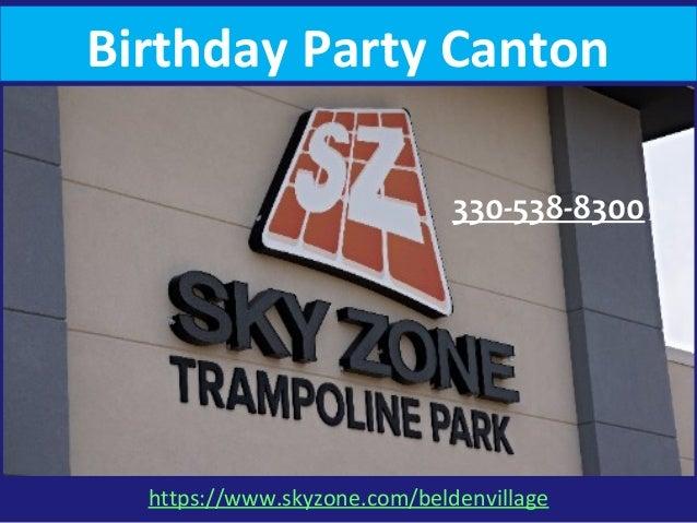 Birthday Party Canton 330-538-8300 https://www.skyzone.com/beldenvillage