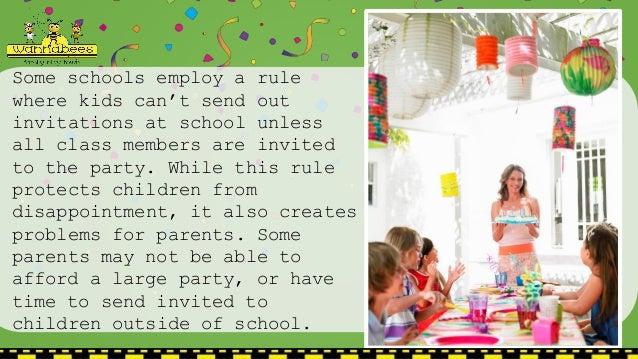 Childrens Birthday Parties Etiquette