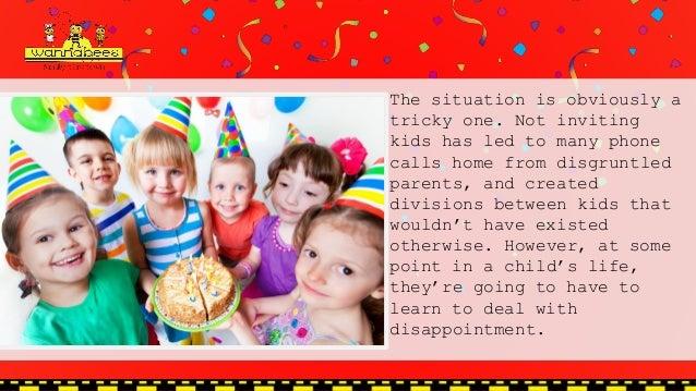 Childrens Birthday Parties Etiquette - Children's birthday etiquette