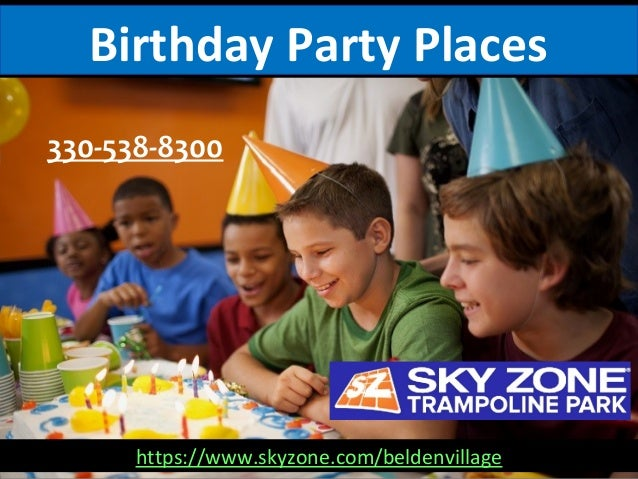 Birthday Party Places 330-538-8300 https://www.skyzone.com/beldenvillage