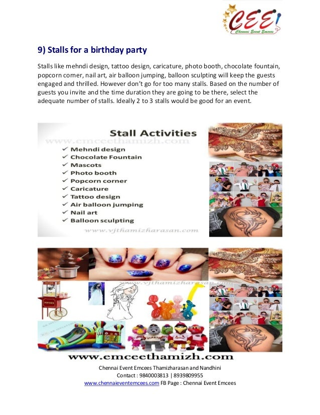 Birthday Party Preparation Ebook prepared by Chennai Event Emcees-Con…