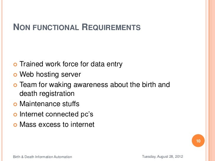 Birth & death information automation
