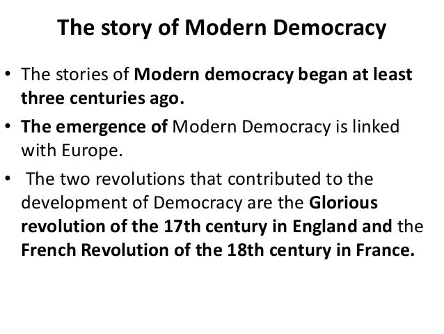 Birth of democracy