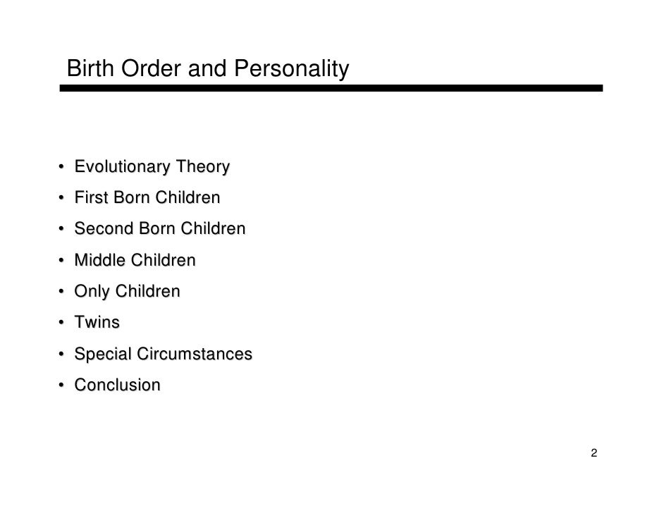 Literature review on birth order and personality