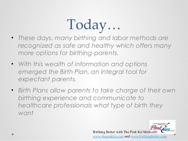 Birth Plan  And