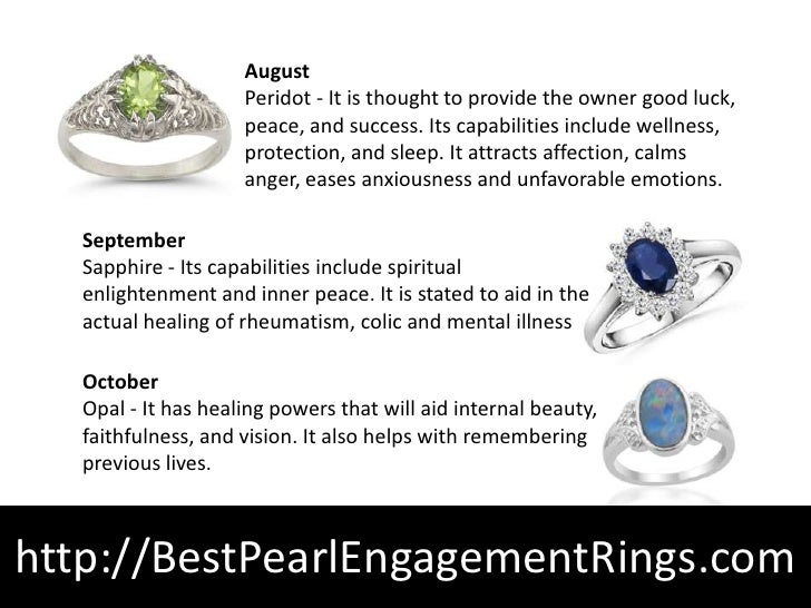 Birthstone ring meanings