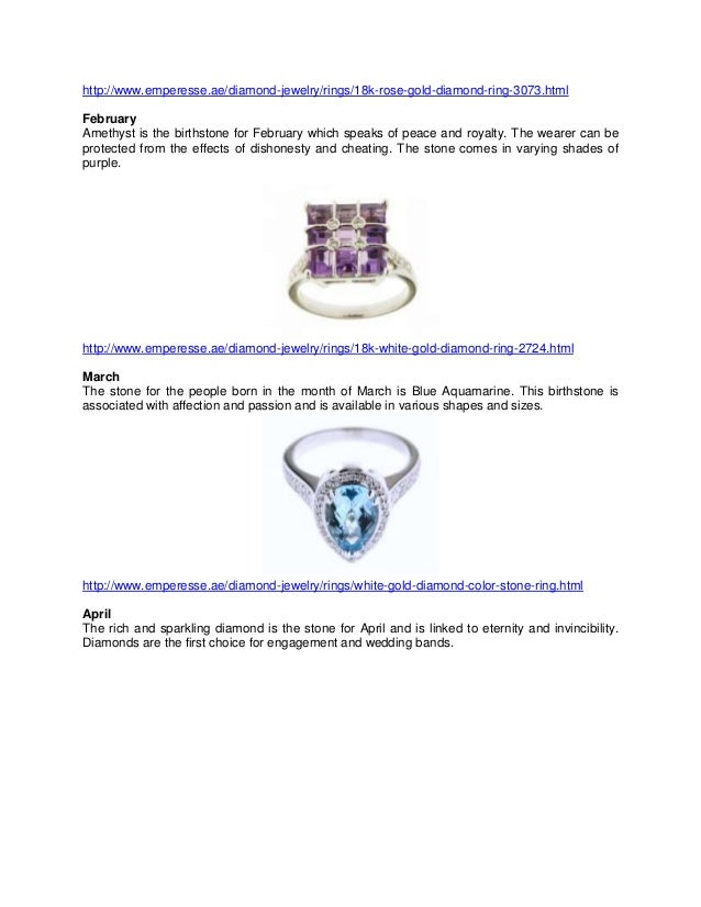 The Beauty of Rings with Birthstones
