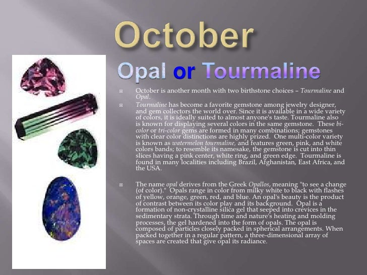 Opals Physical Properties