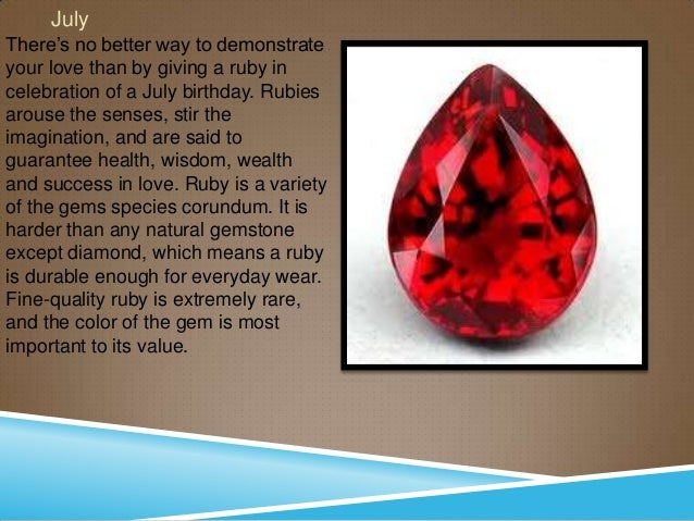 Birthstones ruby