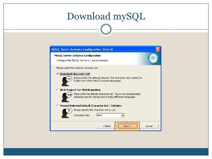 Download mySQL<br />