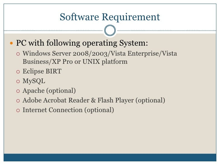 Installating and Configuring Java, MySQL and BIRT. Slide 3