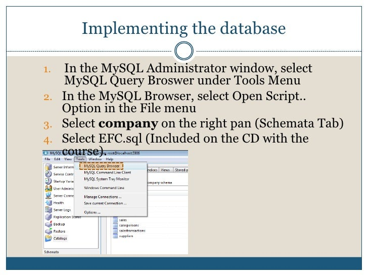Move the mouse to the Schema panel and right click the mouse.