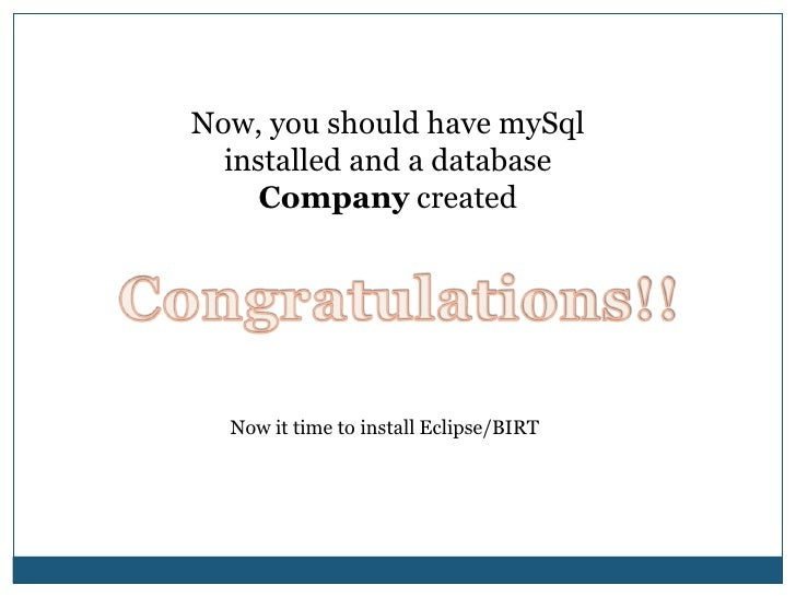 MySQL Browser<br />Select Open Script.. Option in the File menu<br />Select EFC.sql (Included on the CD with the course).<...