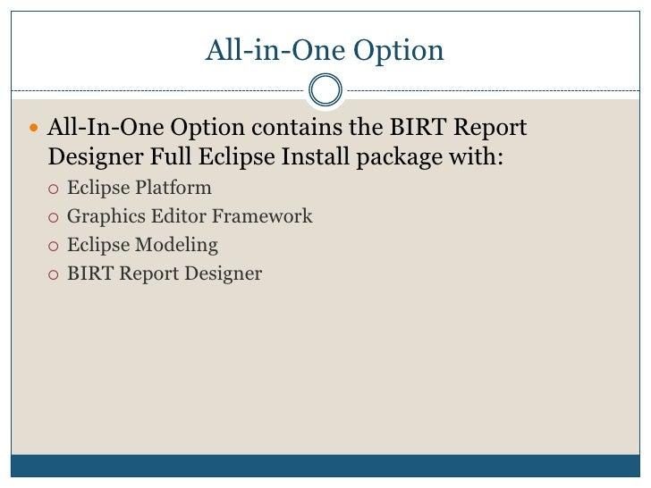 Installation<br />Eclipse BIRT<br />
