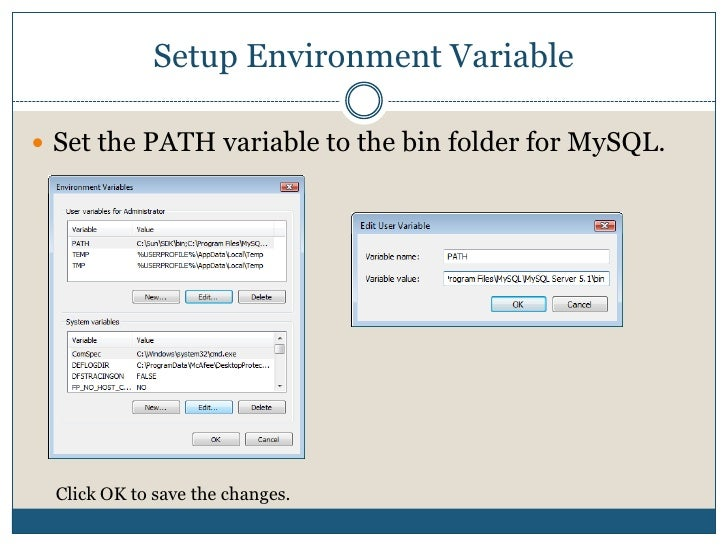 Setup Environment Variable<br />Start   Setting   Control Panel   System<br />Control Panel<br />